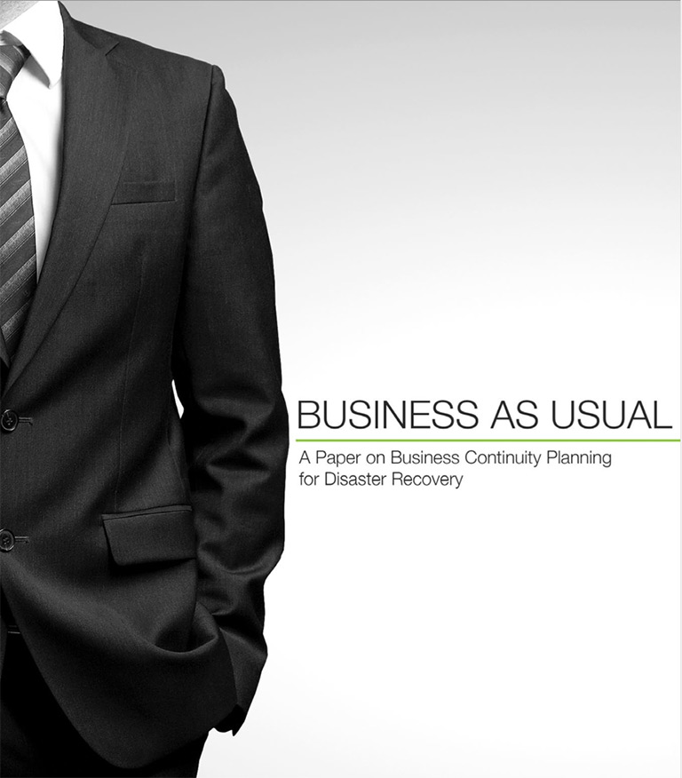 Business As Usual: A Paper on Business Continuity Planning for Disaster Recovery
