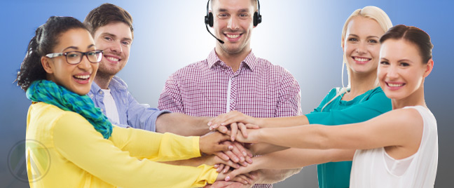 happy-call-center-agents-team