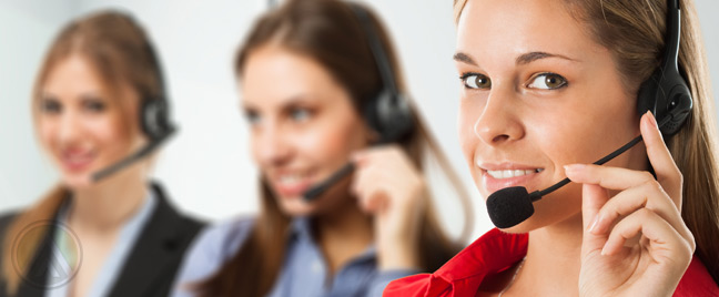 Female-call-center-agents-handling-customer-service