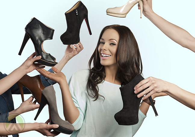 Woman-delighted-by-choices-of-shoes-offered-to-her