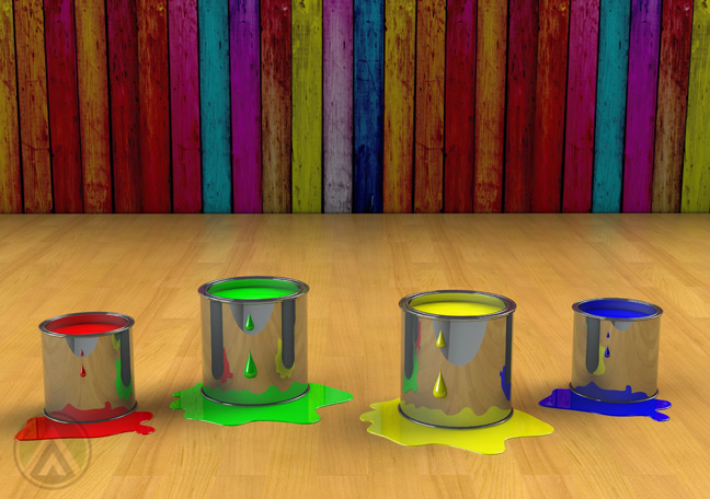 paint-buckets-with-colorful-walls