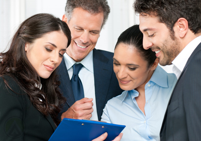 business-team-meeting-over-printed-document