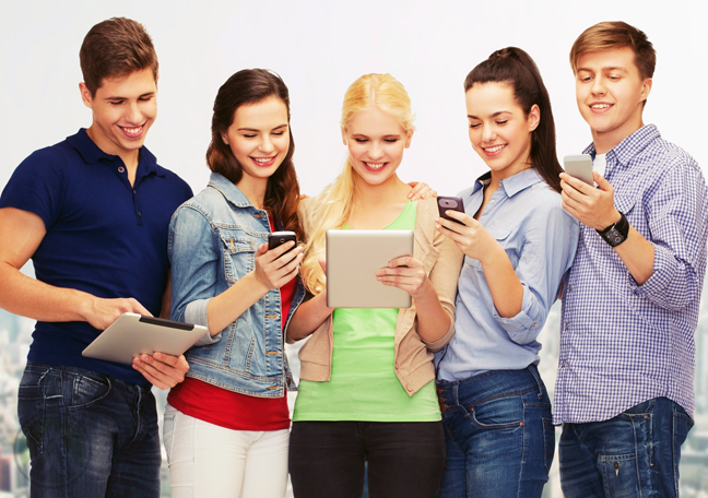 group-of-diverse-young-people-using-smartphones-tablets