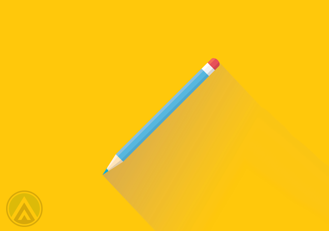pencil-in-yellow-background