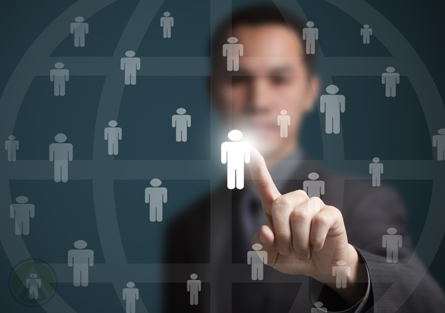 businessman-pointing-to-illuminated-human-stick-figure-employee-hiring-concept