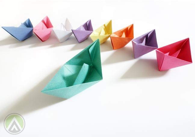 colorful-paper-boats
