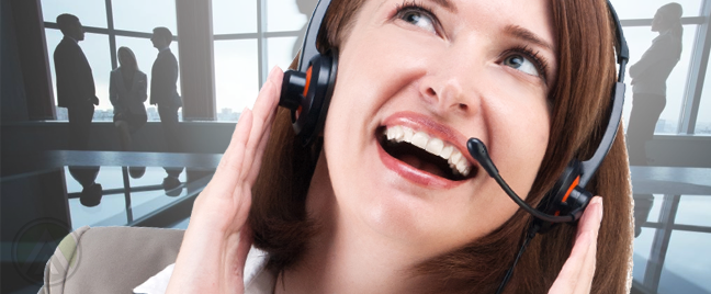 delighted-call-center-agent