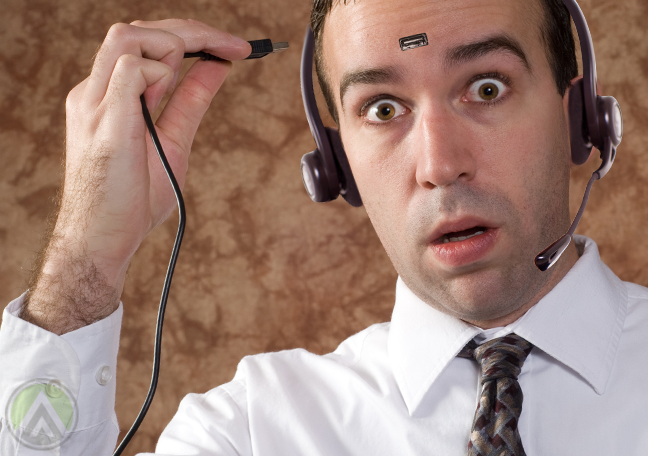 male-customer-service-call-center-agent-with-USB-port-forehead