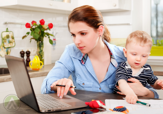 working-mom-at-home-with-baby-laptop