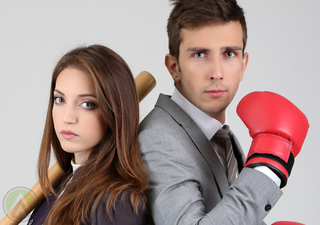 scrappy-male-female-business-employees-ready-to-fight