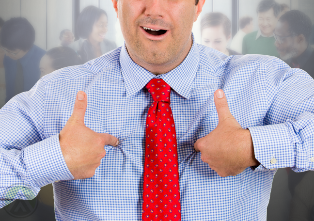 businessman-in-blue-and-red-tie-pointing-to-self