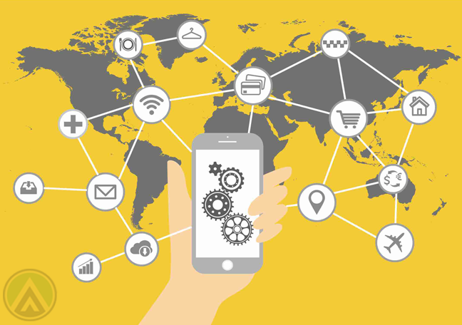 hand-holding-smartphone-connected-to-services-around-the-world