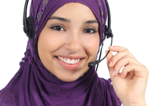 smiling-female-arabic-call-center-agent