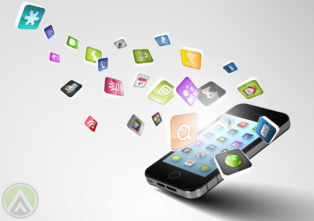smartphone-iphone-mobile-apps-icons-flying-out