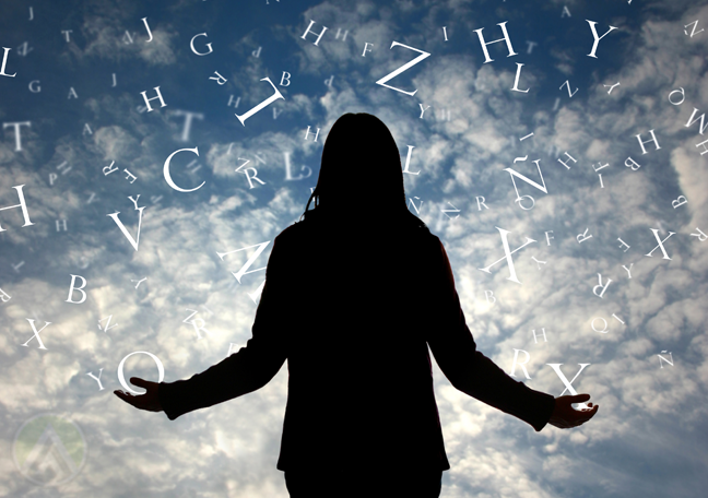 dark-black-female-figure-with-clouds-letters