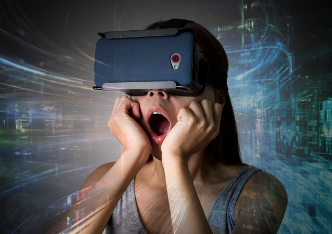 surprised-woman-wearing-virtual-reality-headset-playing-game