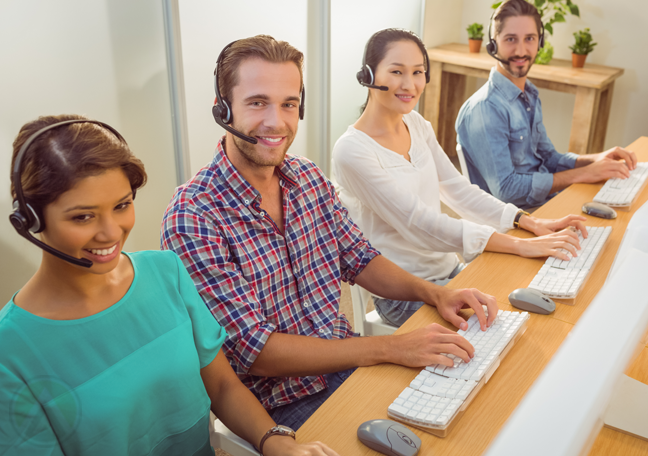 diverse-call-center-team