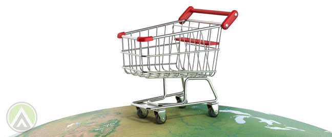 shopping-cart-on-top-of-globe