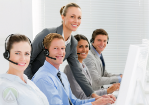 customer-service-team-supervised-by-call-center-manager