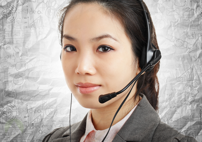 serious-female-telemarketing-agent