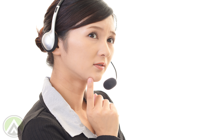 Asian-female-call-center-agents-smiling