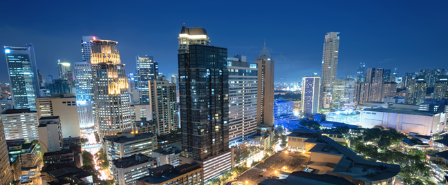view-of-Philippine-skyscrapers-at-night