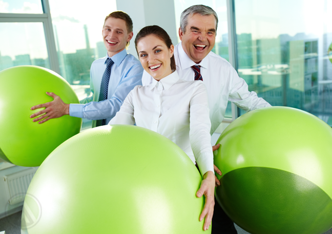 office-workers-having-fun-with-exercise-balls