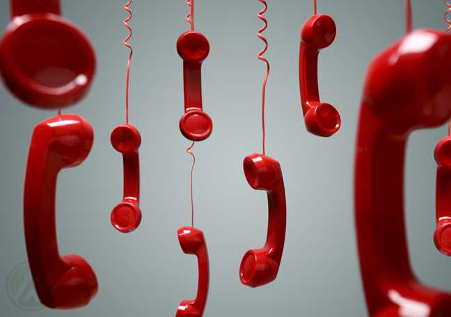 red-landline-phones-hanging-from-the-ceiling