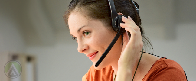 smiling young telemarketing millennial